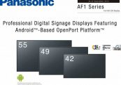 Panasonic AF1 Professional digital signage display