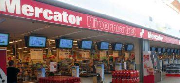 Supermarket Mercator Cash Out Digital Signage