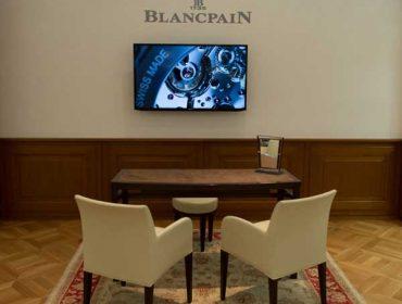 Blancpain Boutique digital display