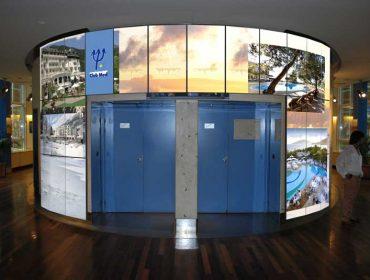 Retail Multi Display ClubMed Paris Powered by QL