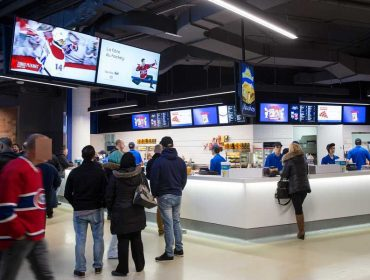 Bell Center, Montreal, Canada - Concession Signage
