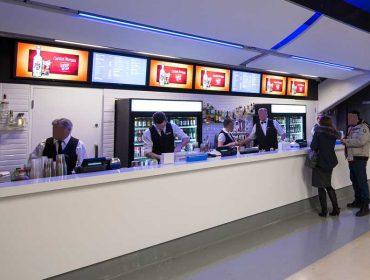 stadium Bell Center Montreal - Digital menu board powered by Navori QL Software