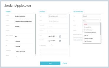 user properties window