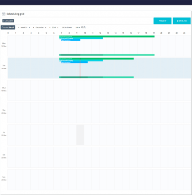 Scheduling grid
