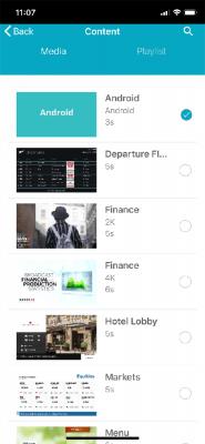QL Mobile User interface