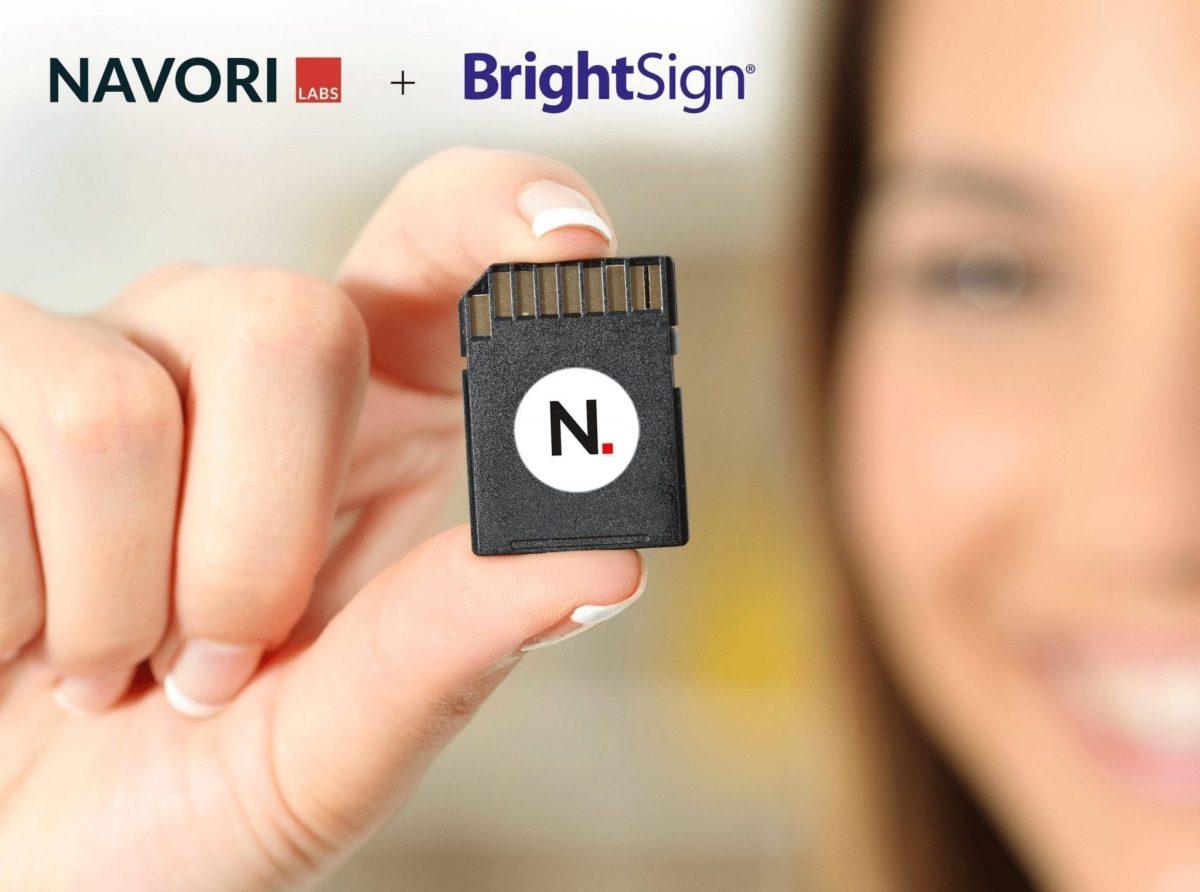 Navori and BrightSign SD Card Logo